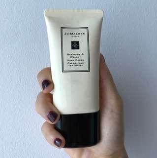 Jo Malone Geranium and Walnut Hand Cream