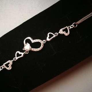 925 Italy Silver Bracelet - Hearts