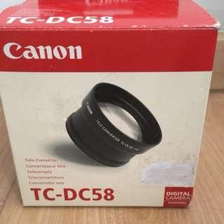 Canon TC-DC58 58mm 1.5x Teleconverter Lens