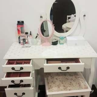 法式 小型 梳妝台