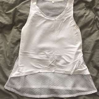 Slinkii Athletic white Mesh Singlet