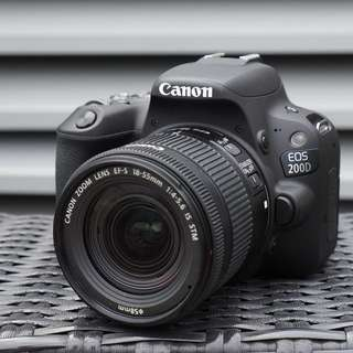 CANON EOS 200D Camera with 18-55mm STM Lens (Black)