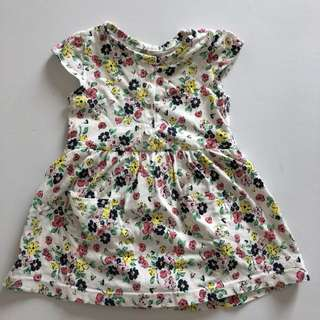 Carters Yellow Flowery Dress
