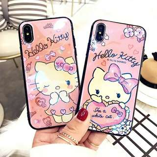 KT蘋果x 7 6 iphone8plus 6s 7p i8藍光閃粉手機殼
