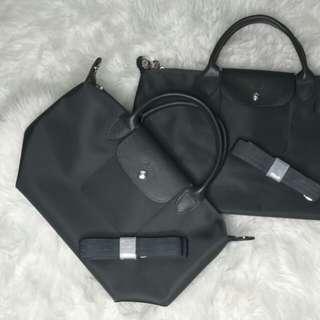 Longchamp Neo /dark grey/ small/ready stock