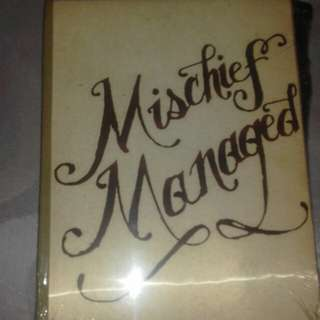 Mischief managed (The mauderer's map) Notebook with wand