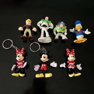 Retired Disney Pixar figures Minnie Mickey Donald buzz lightyear Transformers
