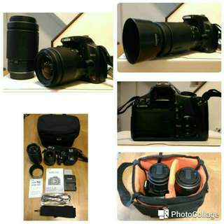 Canon 450D lens 28-80 + 70-300