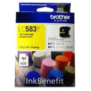Brother Yellow Ink Cartridge LC583Y Murah