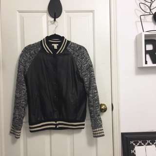 Forever 21 faux leather bomber