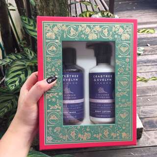 NEW Crabtree & Evelyn Lavender & Espresso Body Wash and Body Lotion