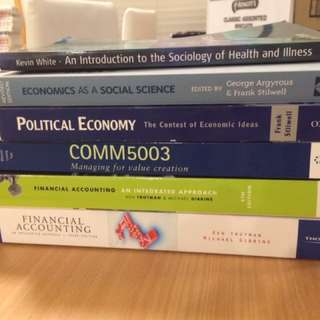 Assorted University Text Book UNSW Master of Commerce, Bachelor of Arts