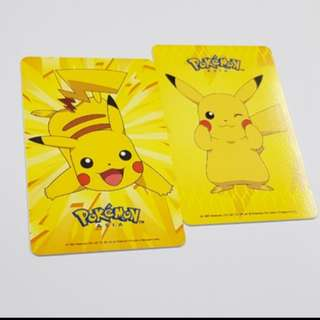 2 for 30$, 1 for 16$ Pikachu Ez Link Card