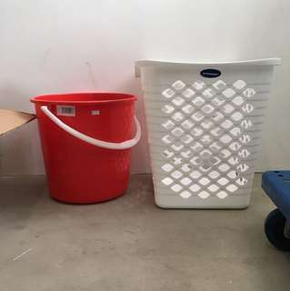 DIRT-CHEAP $2 NTUC WHITE Laundry Basket
