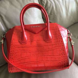 Givenchy Antigona Small Crocs Bag