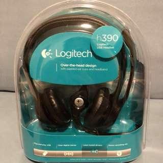 Logitech BRAND NEW USB Headset 全新usb 耳機