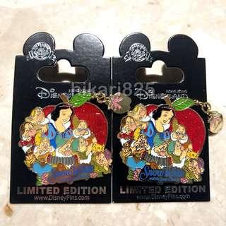 Disney pin Snow White 80周年紀念 襟章 LE500