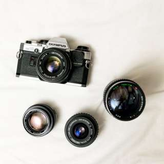 Olympus camera and lenses