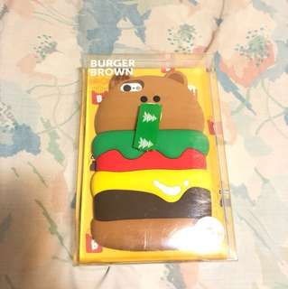 Line 100% new iphone 6/6s case 熊仔Brown