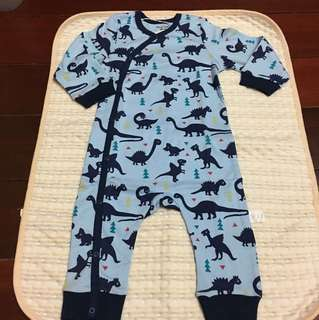 *New* Dinasour printed Baby sleepsuits 9-12m