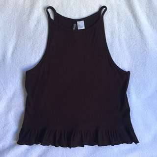 H&M ribbed halter neck top