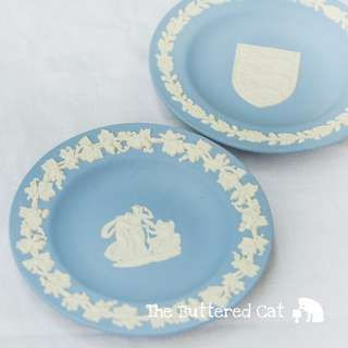 RESERVED TWO vintage Wedgwood Jasper Ware trinket dish, decorative plates