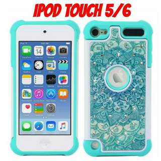 iPod Touch 5/6 Blue Floral Mandala Case