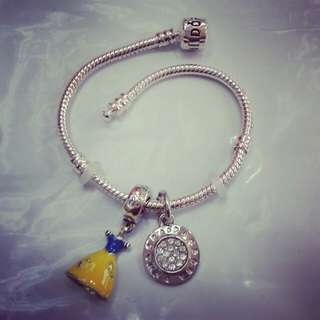 Cinderella InspiredPandora Bracelet *Design by Customer