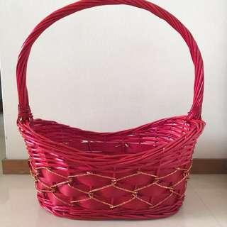 Brand New Red Basket / Wedding Basket