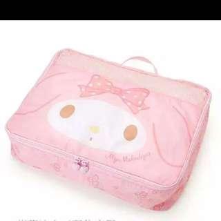**只限2⃣️天日本 Sanrio Melody箱包系列旅行衣服袋折叠收纳袋