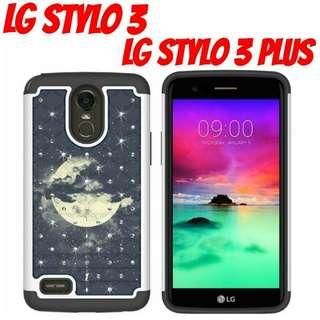 LG Stylo 3 Night Sky Hybrid Gem Case