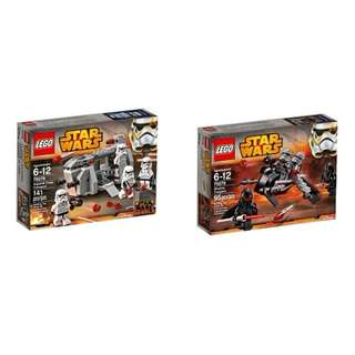 1 ) Lego 75078 Imperial Troop Transport 2 ) Lego 75079 Shadow Troopers