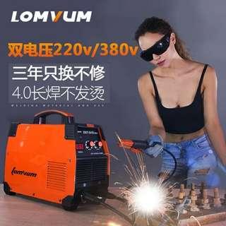 電焊機400 315 250 220v380v兩用家用小型全銅直流迷你焊機