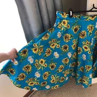 HELL BUNNY Sunflower skirt size 18-20