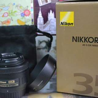 Nikon Nikkor 35mm f1.8G DX