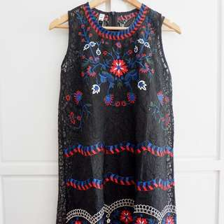 D&G inspired lace floral dress