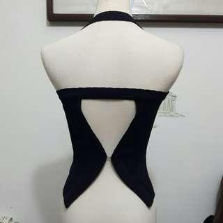 針織繞頸露背背心