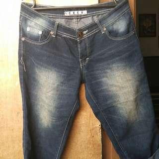 celana sontog jeans celana 3/4 celana jenas cewek celana jeans tanggung