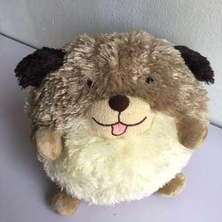 Round doggy soft toy
