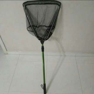Extendable and foldable fishing net
