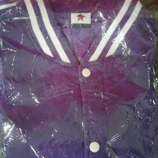 Varsity jacket  (purple/white)