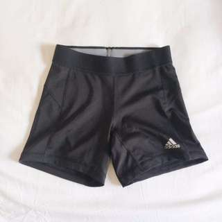 Adidas sports techfit shorts in black.