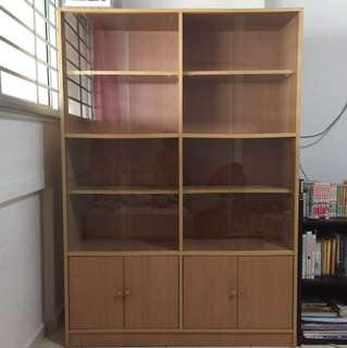 Bookcase with glass