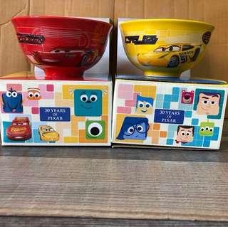 7仔 7-11 便利店 Cars 3 麥坤 / 小薑 陶瓷碗一對 Disney / Pixar 迪士尼 / 彼思