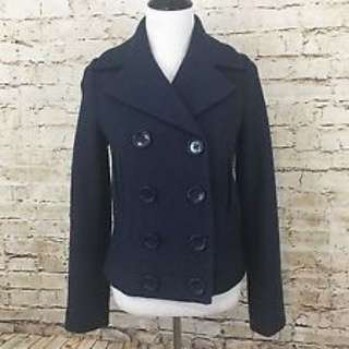 Forever 21 Double Breasted Coat With Inner Lining