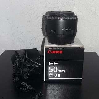 canon 50mm f1.8 ii +uv filter
