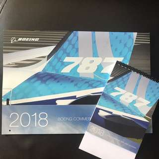 2018 Boeing Commercial Airplanes Calendar
