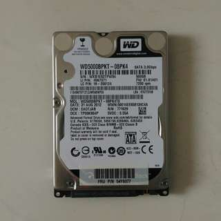 "WD 500Gb 2.5"" laptop notebook hdd"