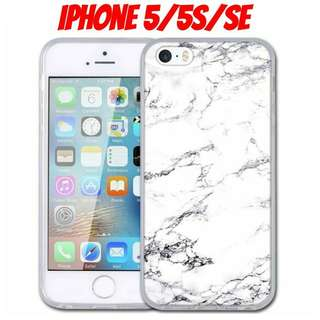 iPhone 5 White Marble Shockproof Case