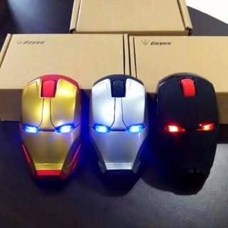 XMAS SALES!!!!  Ironman Wireless Mouse With Led Light Marvel Avengers Ironman kitty